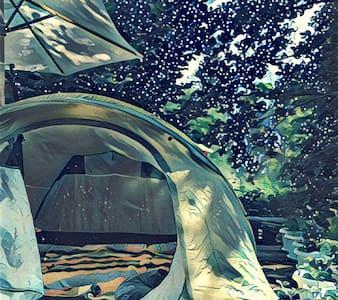 Палатка в саду под звёздами - Икша - เต็นท์