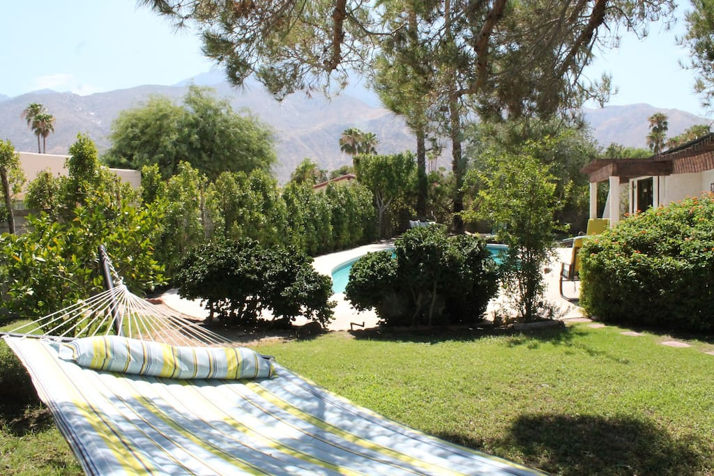 Nap with mountain view and shady tree