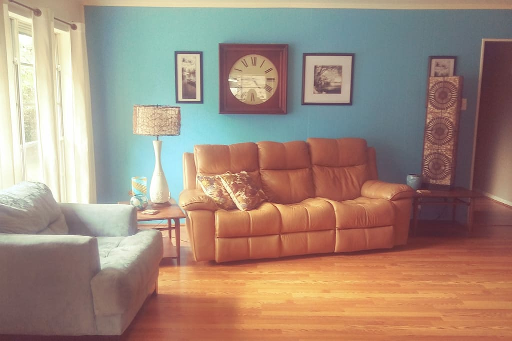 Living Room with electric reclining sofa