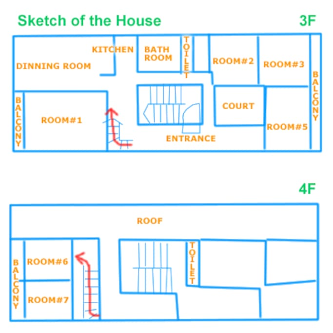 map in the house