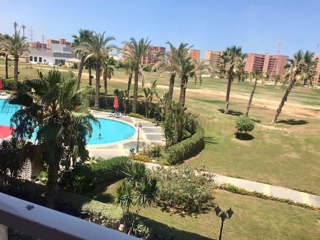 Fully equipped chalet pool view golf porto marina