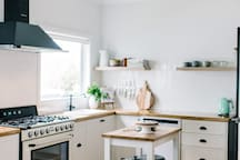 Well appointed kitchen with Smeg cooker