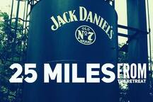 country roads will take you to Jack Daniels for a fun day trip!