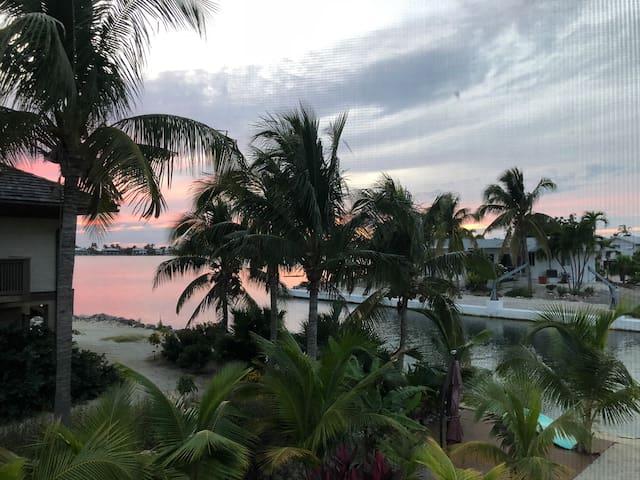 Florida key sunset view