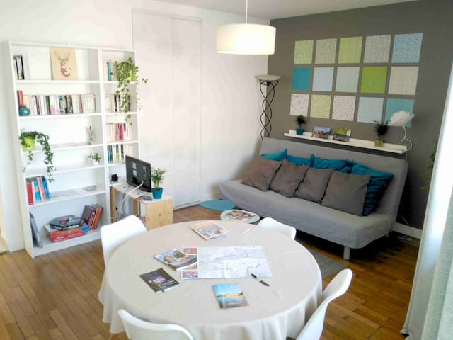 Cosy 35m2, 2 min walk from train and center town