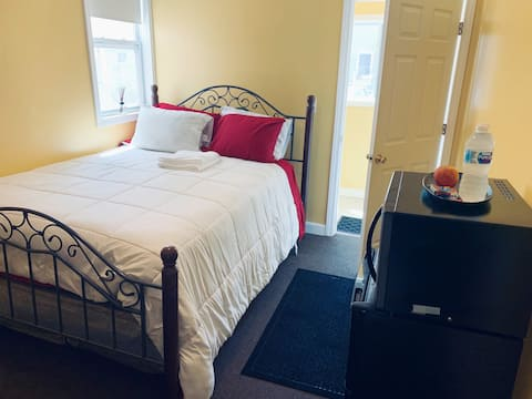 Clean private bedroom with private bathroom!