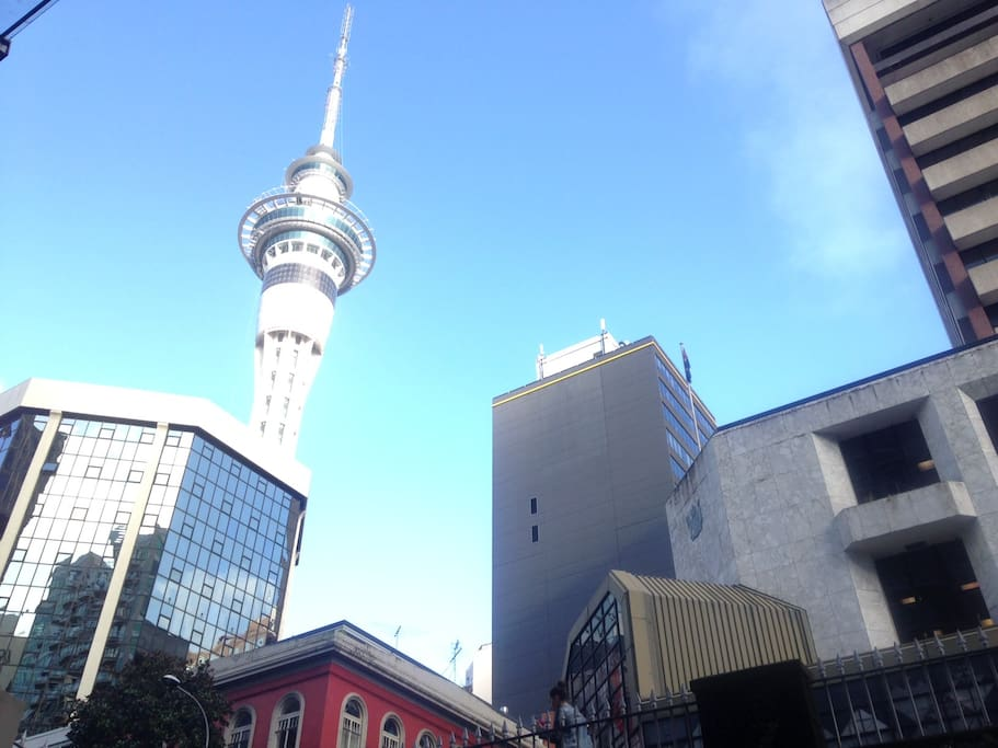 The Sky Tower - not a view from our house, but definitely a highlight of the inner city for views and the thrill seekers!