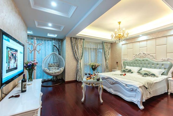 【茉绿】西塘素色别院*优惠门票*免费早餐*吊篮*向阳欧式大床房