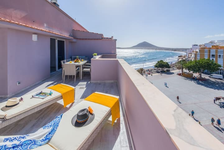 SoulSurfers Penthouse - first line, Medano Beach