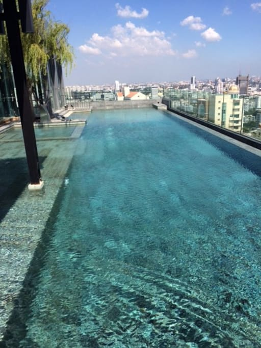 Infinity Roof top Pool on 33 floor and upper Sukhumvit Road