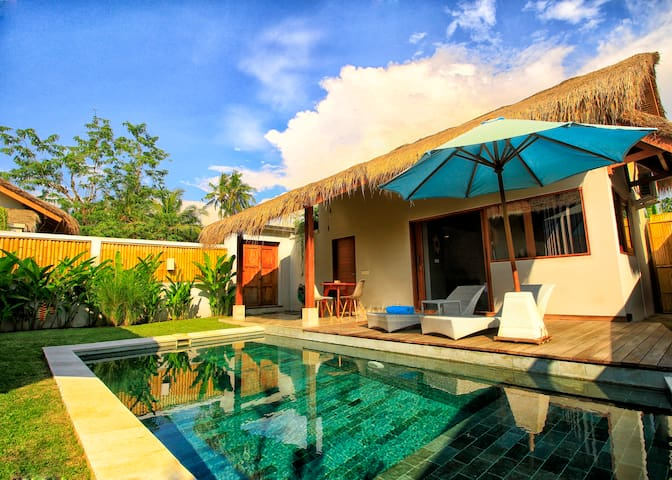 2- Elegant villa with garden and private pool.