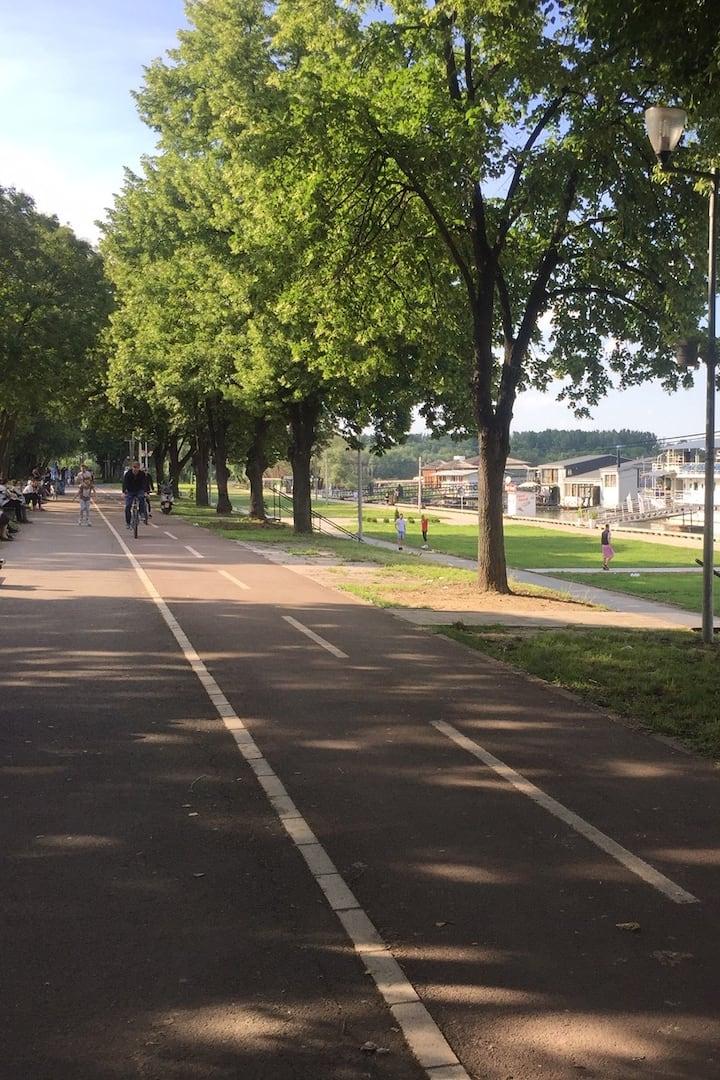 Part of New Belgrade route