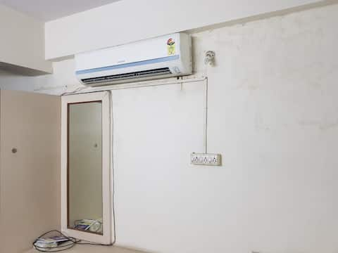 2BHK with flat with separate bath,hall, kitchen