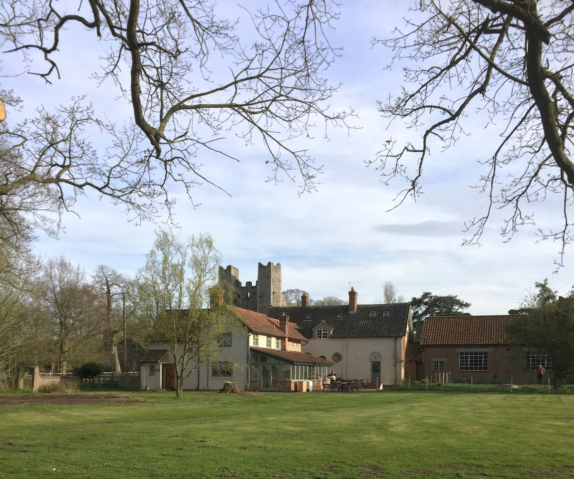 View of the Lodge with the Castle behind from the driveway