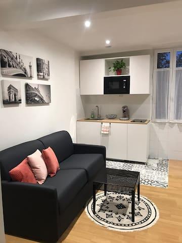 Chaleureux studio pour 4 personnes