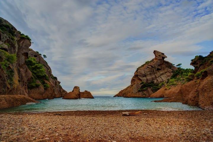 Rez de villa à 200m des plages