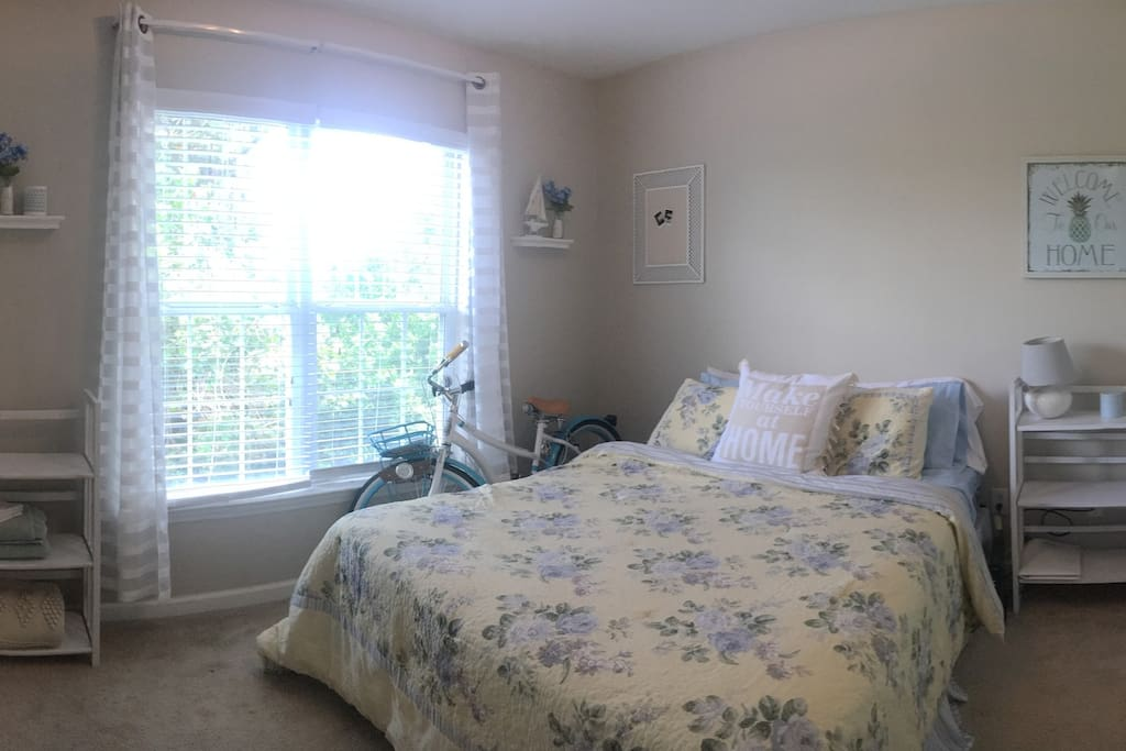 Your private bedroom. The bike will be out, but you are able to use it if you'd like.