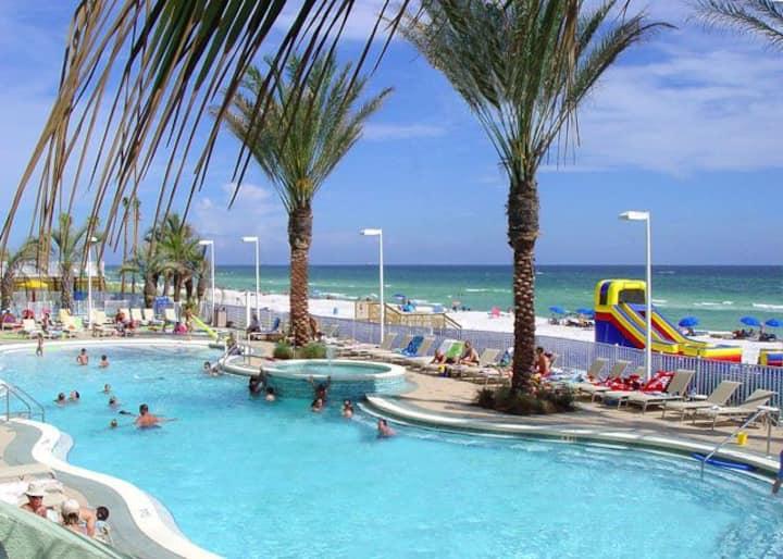 Beach Front Boardwalk Beach Resort Studio Condo