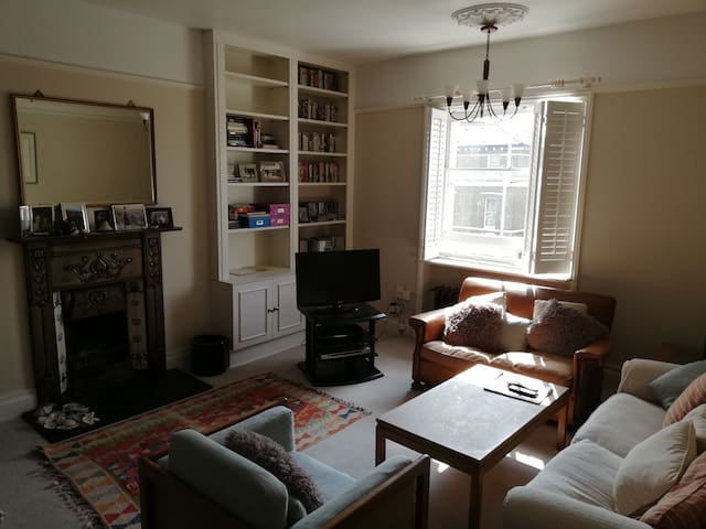 Bright double room and sofa bed available too