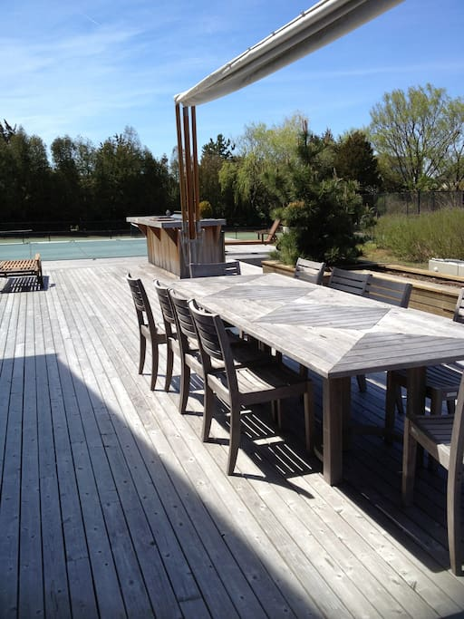 Outdoor seating for 12 with canopy