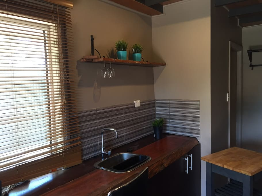 Timber kitchen with all cooking facilities