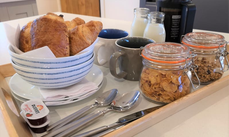 Continental breakfast served to you in your room each morning.