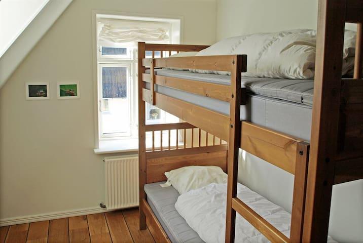 Tredje soveværelse med køjesenge.
