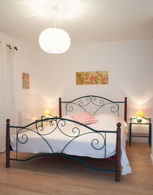 Nice bedroom with comfortable double bed