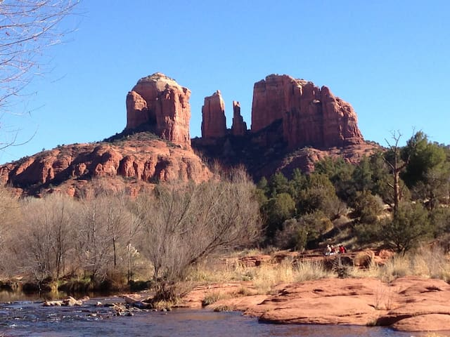Nothing more breathtaking than Cathedral at Red Rock Crossing--only a short distance away