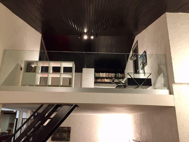 Mezzanine vue du salon