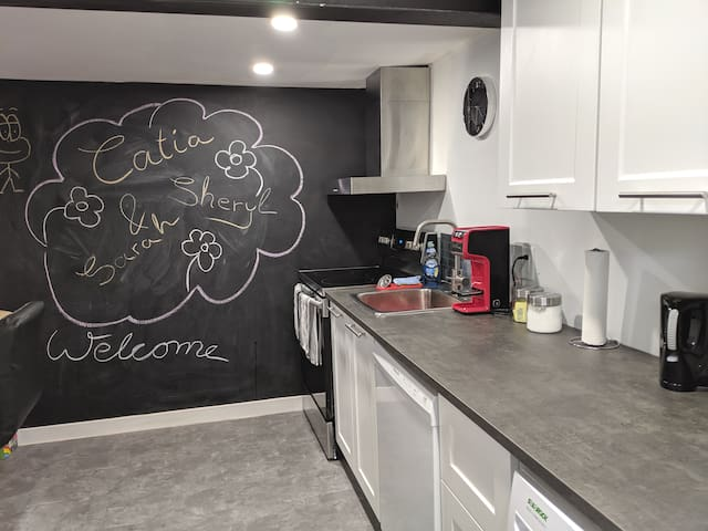 Huge chalk board wall for kids to play
