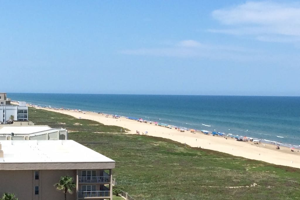 Gulf Shoreline View from condo.  Beach property.
