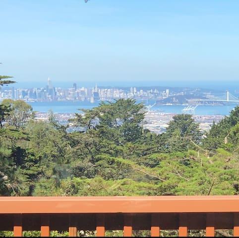 Views of San Fransisco Bay and multiple bridges