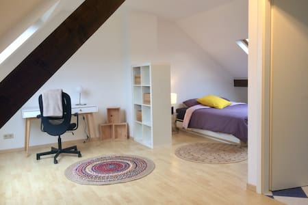 Private room with bathroom 12 min from Kirchberg