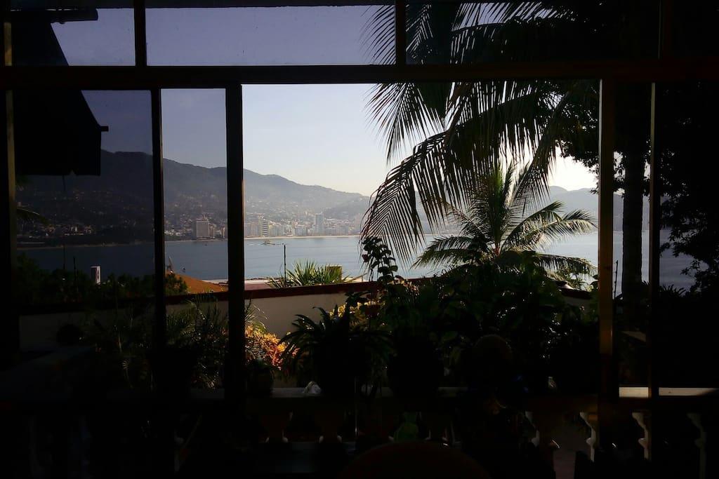 Vista panorámica de la bahía de Acapulco.