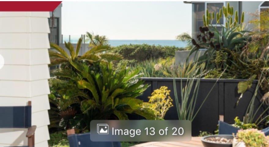 Beach Apartment; through the garden onto the beach