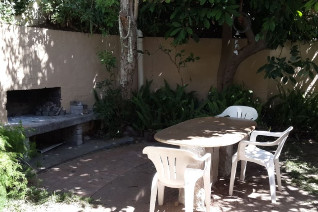 Quiet Braai facility at the back of the house in private garden