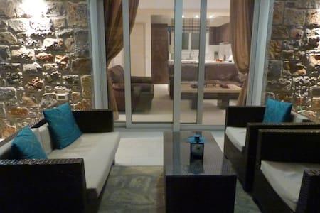 2 bedroom villa with pool, centre of Elounda.