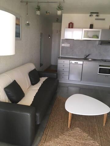Studio, avec canapé-lit convertible 160 cm