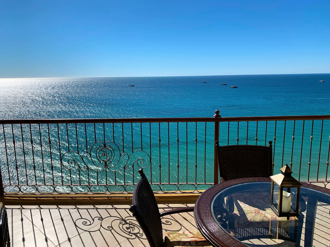 Balcony with beautiful views of the Sea of Cortez
