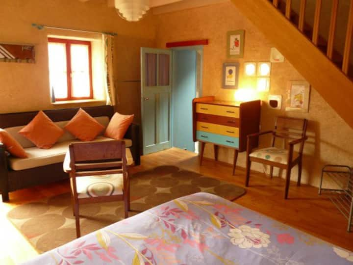 """""""La sirène endormie"""" chambre 5 pers dans chaumière"""
