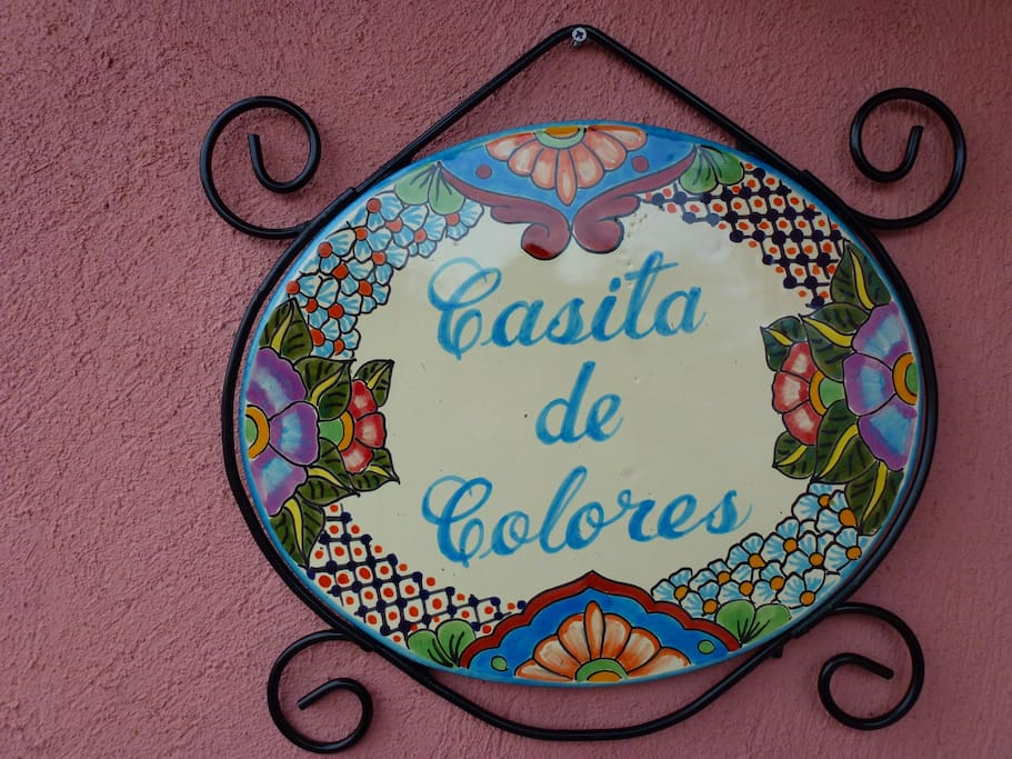 Welcome Sign - at entrance to Casita