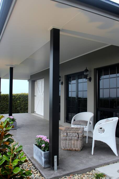 French doors and beautiful fixtures throughout