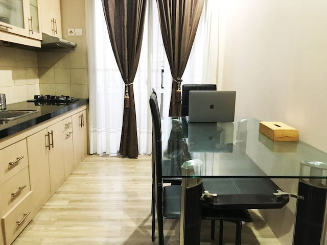 "2BR Pool View Apt at Ancol (with 40"" SmartTV)"