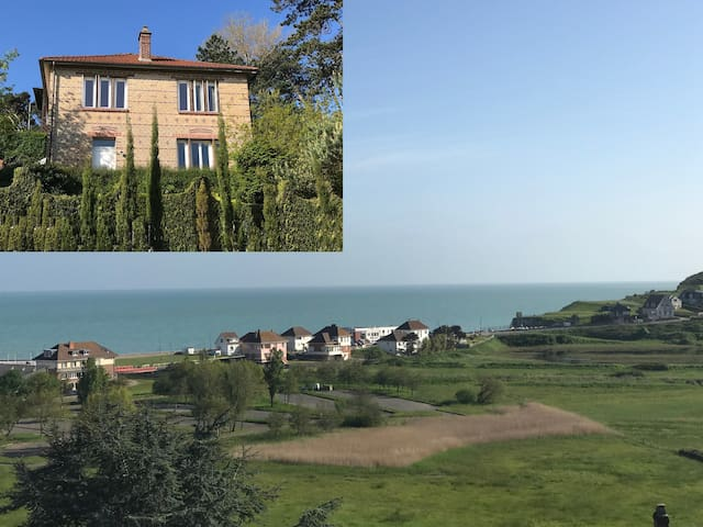 Villa Verts Bois : sea and cliffs in landscape