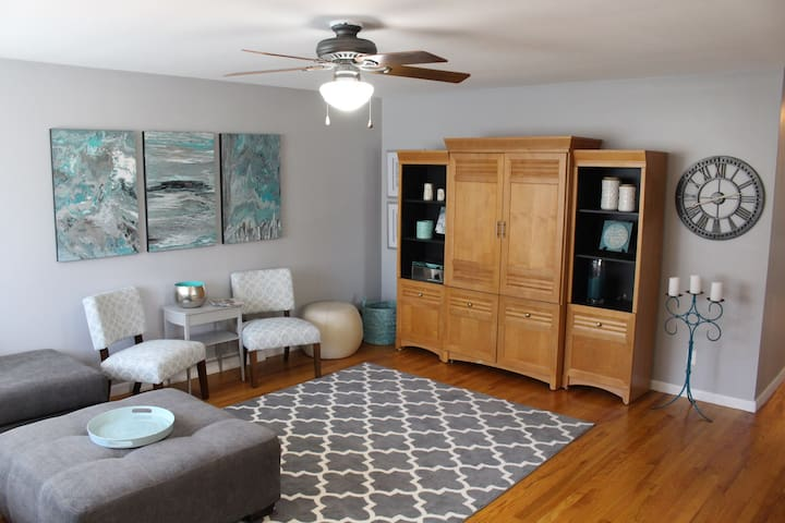 Sky Blue Rentals- Stylish Home downtown Valparaiso