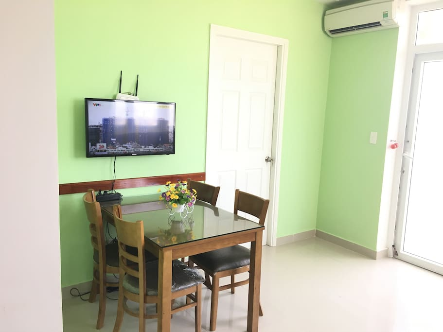 Dining/working table, Cable TV and WIFI in the guest room with air-condition