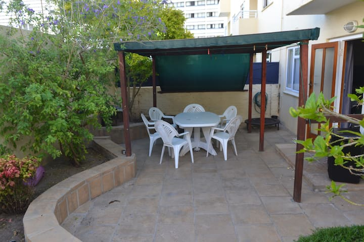 Own private use garden, accessible from lounge and garage