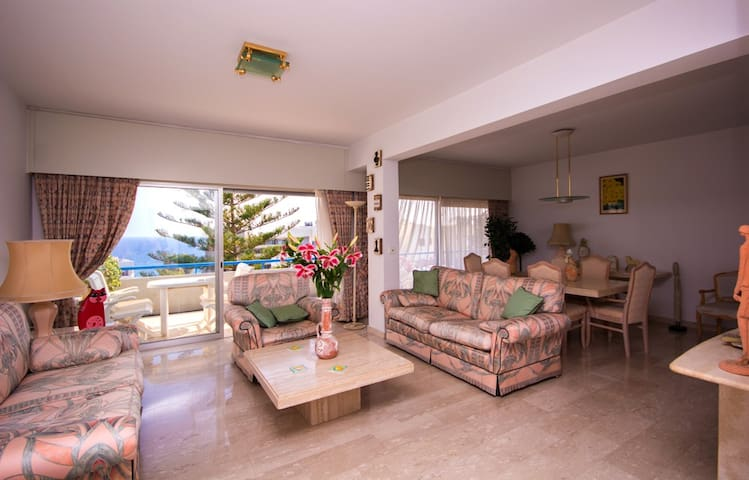 MEDITERRANEAN DREAM: BEACH FRONT LUXURY APPARTMENT - Agios Tychon - Appartement