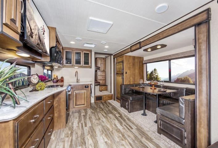 2019 Grand Design Trailer at Delight's Hot Springs